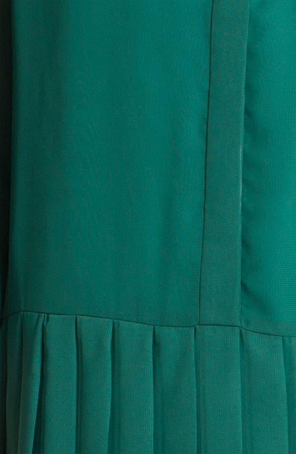 Alternate Image 3  - Donna Morgan Drop Waist Chiffon Blouson Dress