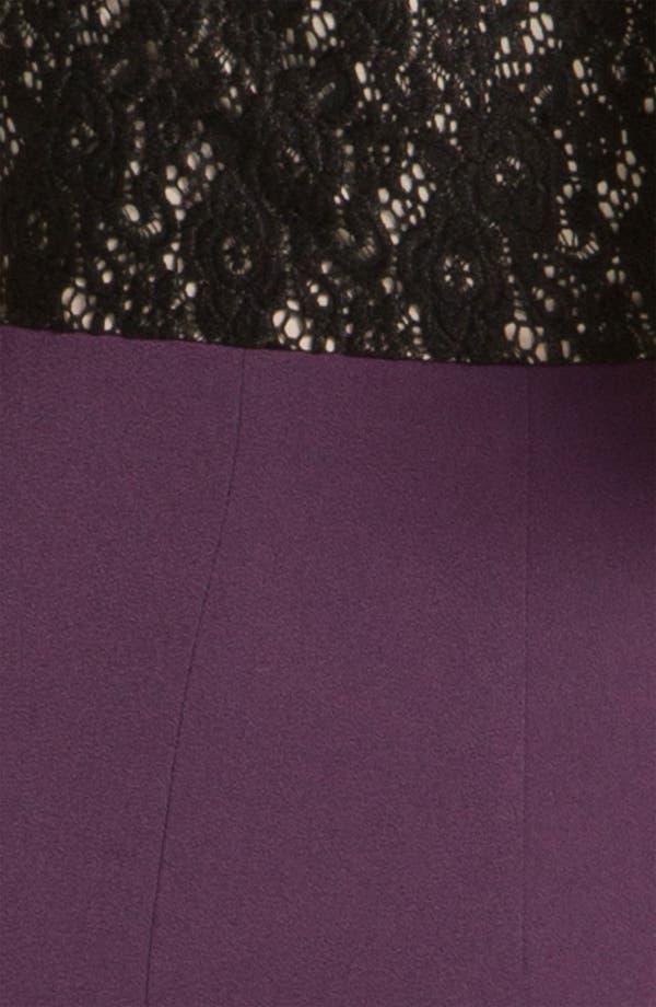 Alternate Image 3  - Black Halo Lace Inset Crepe Sheath Dress