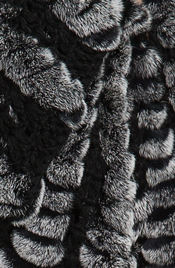 Alternate Image 3  - Alexia Admor Crochet & Genuine Rabbit Fur Capelet