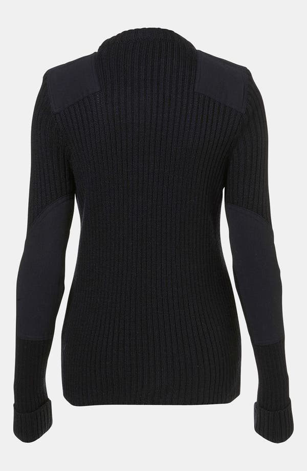 Alternate Image 2  - Topshop Boutique Ribbed Military Sweater