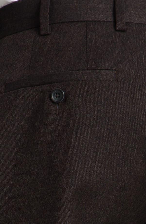 Alternate Image 3  - Peter Millar 'Hi Low' Flat Front Wool Trousers