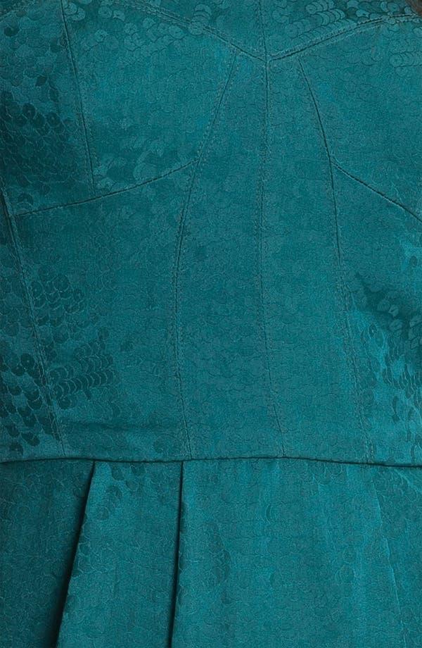 Alternate Image 3  - Rebecca Taylor Jacquard Silk Sheath Dress