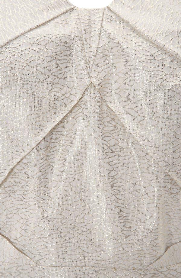 Alternate Image 3  - Topshop Origami Metallic Jacquard Dress