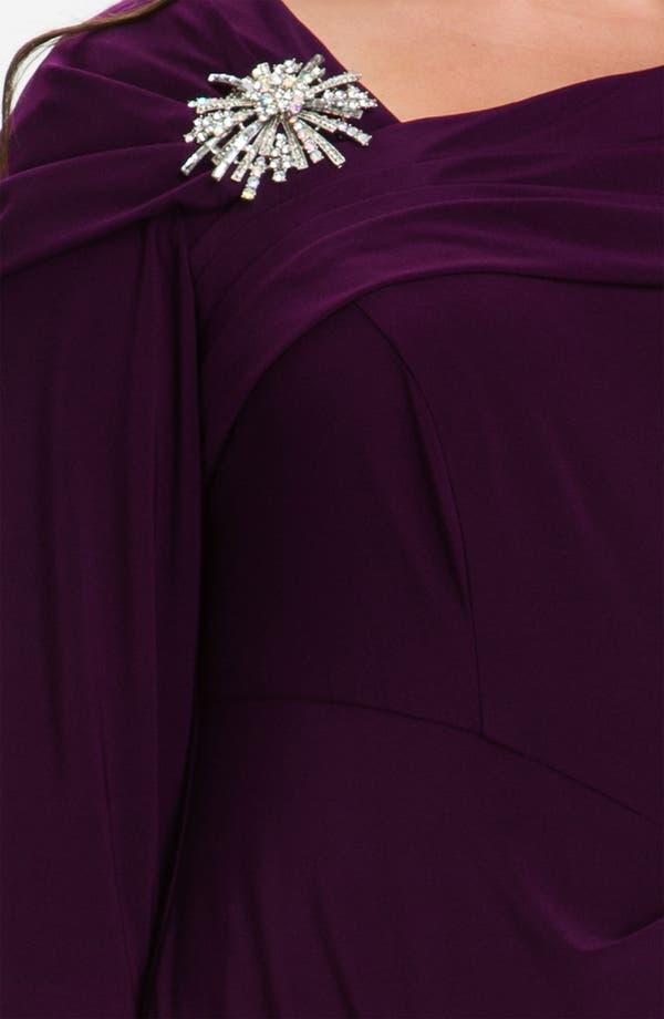 Alternate Image 3  - Alex Evenings Embellished Faux Wrap Jersey Dress (Plus)