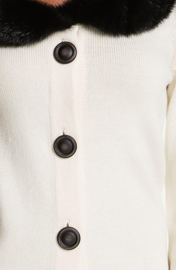 Alternate Image 3  - Nic + Zoe Faux Fur Collar Cardigan
