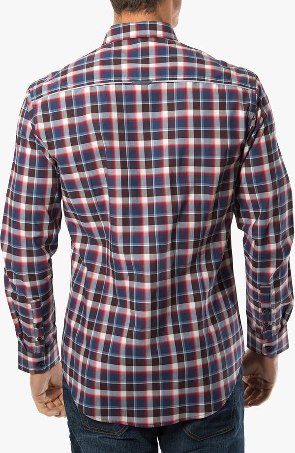 Alternate Image 2  - 7 Diamonds 'The Ride' Check Trim Fit Cotton Sport Shirt