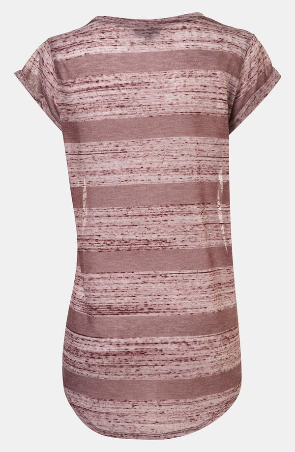 Alternate Image 3  - Topshop Burnout Stripe Maternity Tee