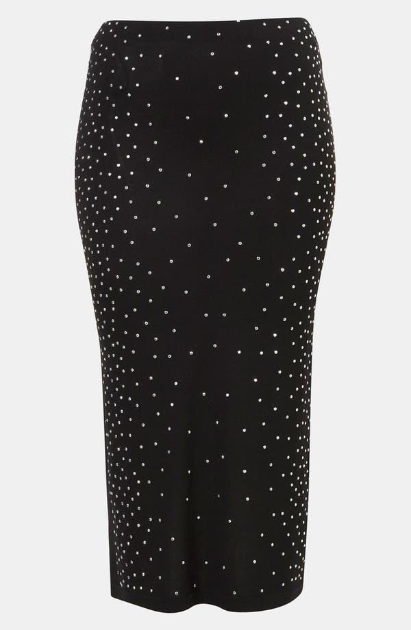 Main Image - Topshop Rhinestone Midi Skirt