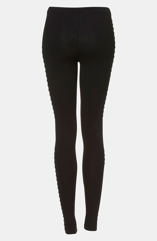 Alternate Image 2  - Topshop 'Tuxedo' Studded Leggings