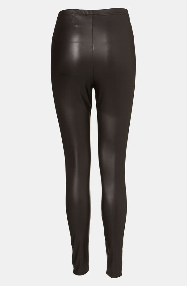 Alternate Image 2  - Topshop Faux Leather Maternity Leggings