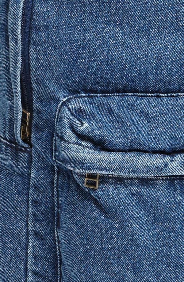 Alternate Image 5  - Topman Denim Backpack