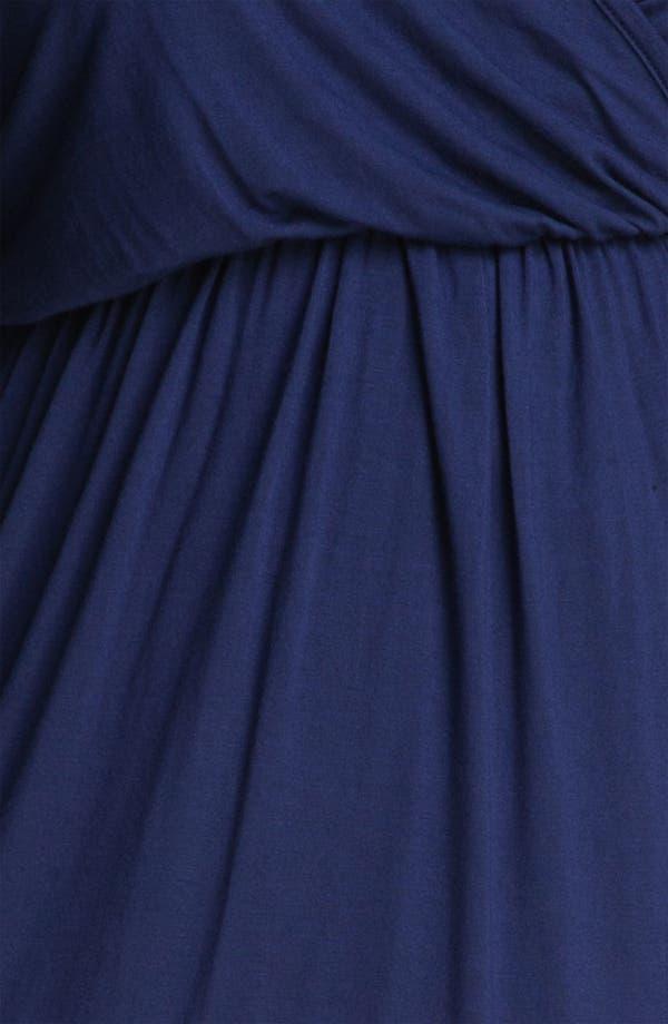 Alternate Image 3  - Loveappella High Low Faux Wrap Dress (Plus)