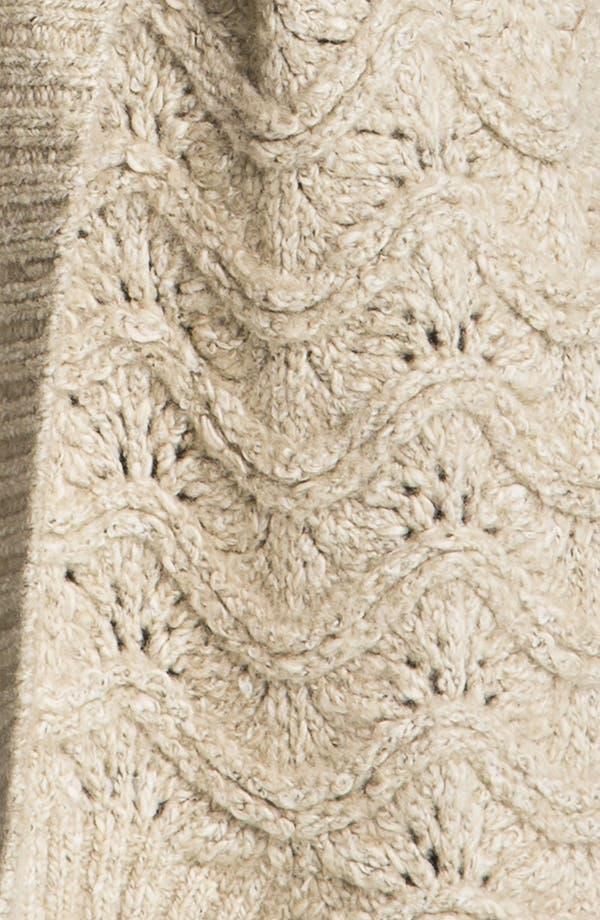 Alternate Image 3  - Hinge® Scallop Knit Oversized Cardigan
