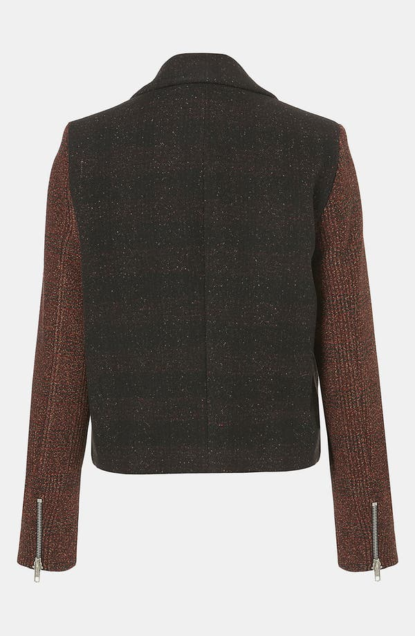 Alternate Image 2  - Topshop Inverse Plaid Tweed Jacket