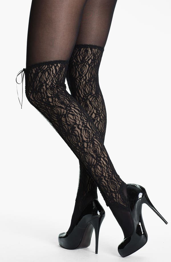 Alternate Image 2  - Wolford 'Booty Lace' Gaiters