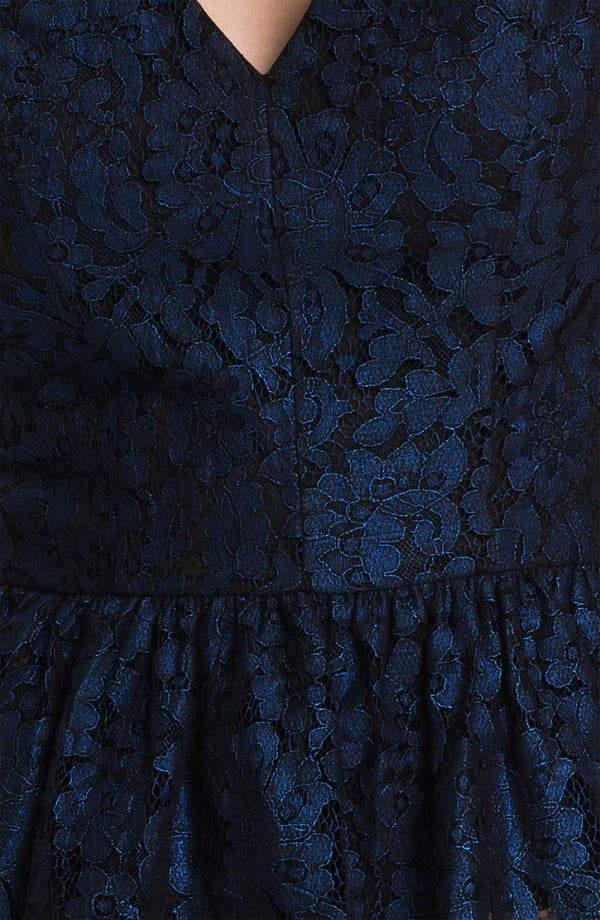 Alternate Image 3  - Robert Rodriguez Metallic Lace Peplum Top