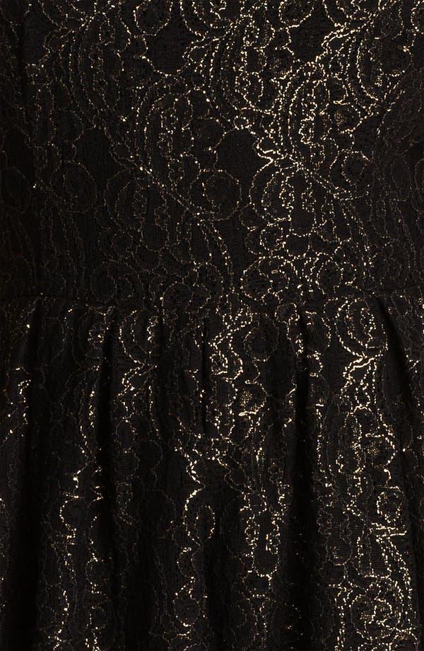 Alternate Image 3  - BB Dakota Metallic Fit & Flare Dress