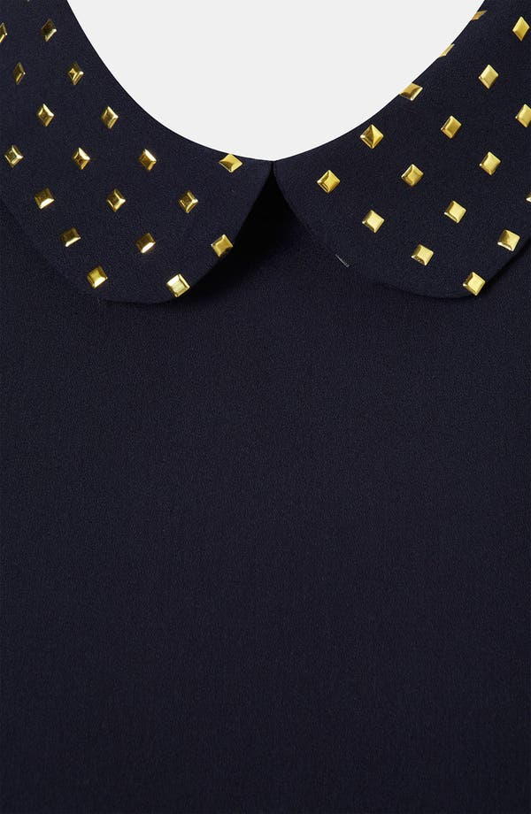 Alternate Image 3  - Topshop Studded Collar Blouse
