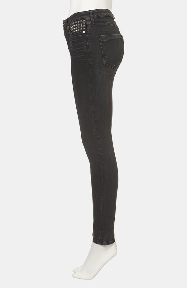 Alternate Image 4  - Topshop Moto 'Jamie' Studded High Waist Skinny Jeans