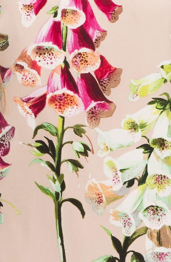 Alternate Image 3  - Ted Baker London Foxglove Print Silk Dress