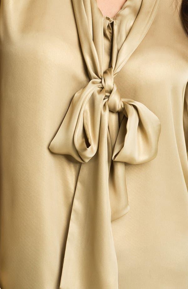 Alternate Image 3  - Vince Camuto Tie Neck Foil Blouse