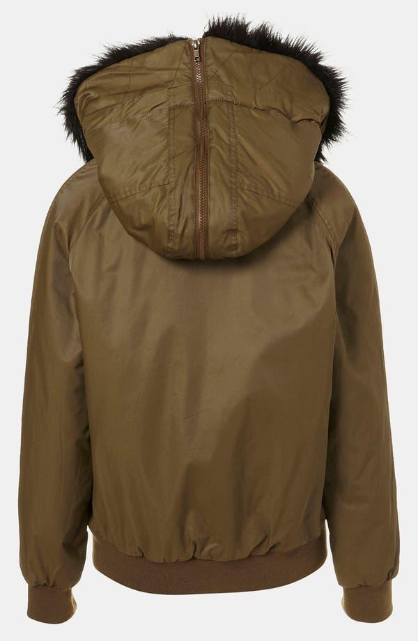 Alternate Image 2  - Topshop Faux Fur Trim Bomber Jacket