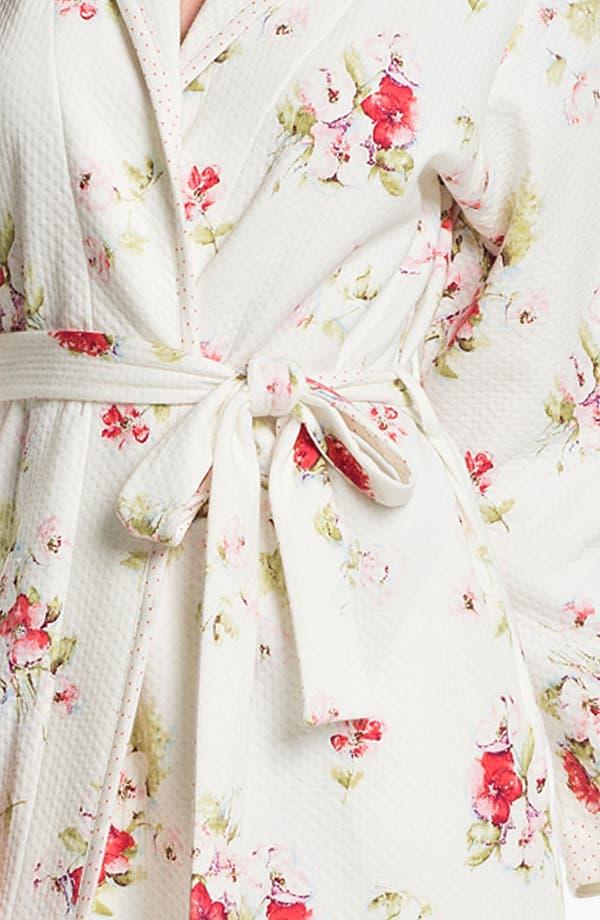 Alternate Image 3  - Carole Hochman Designs 'Roseberry Amaryllis' Robe