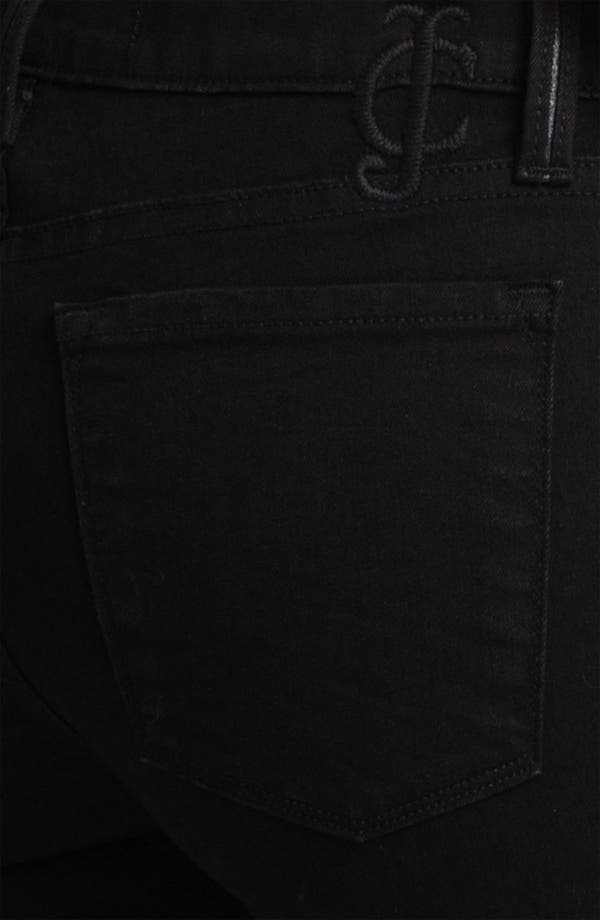 Alternate Image 3  - Juicy Couture Leather Tux Stripe Skinny Jeans (Lilia)
