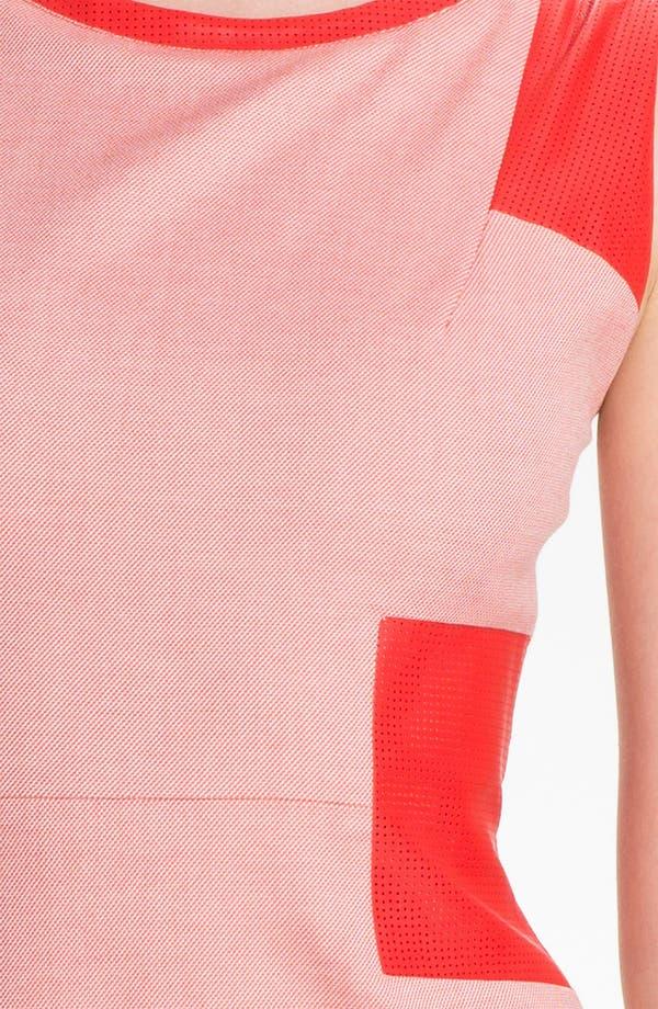 Alternate Image 3  - Rachel Roy Twill & Leather Sheath Dress