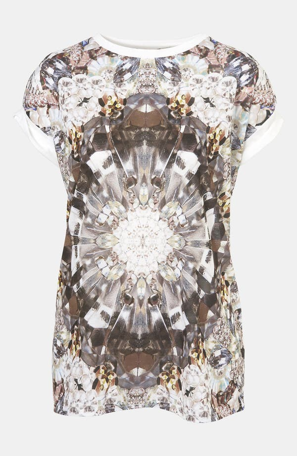 Main Image - Topshop Jewel Digital Print Tee