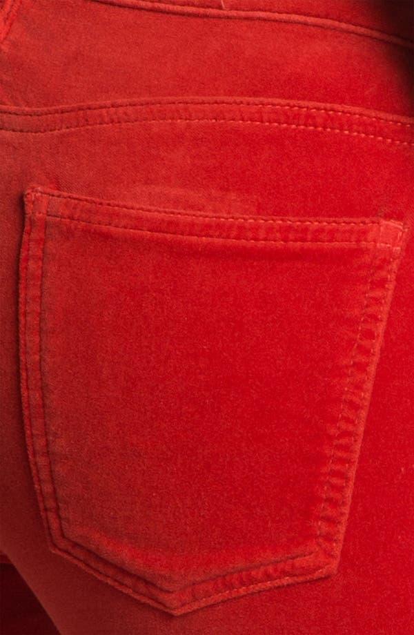 Alternate Image 3  - Current/Elliott Velvet Skinny Pants (Scarlet)