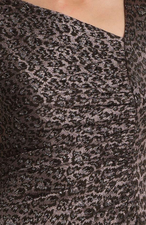 Alternate Image 3  - Adrianna Papell Asymmetrical Neck Textured Sheath Dress