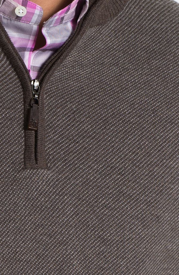 Alternate Image 2  - Robert Talbott Quarter Zip Cotton & Cashmere Sweater