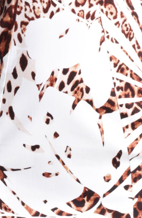 Alternate Image 3  - Blumarine Animal Print Stretch Cotton Dress