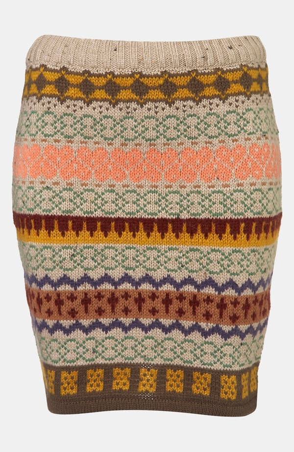 Alternate Image 1 Selected - Topshop Nordic Knit Sweater Skirt