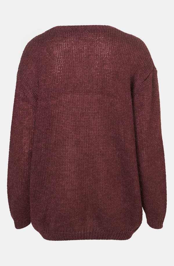 Alternate Image 2  - Topshop 'Bored' Faux Leather Appliqué Sweater