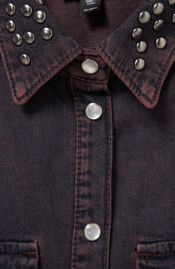 Alternate Image 3  - Topshop Moto 'Madison' Stud Collar Denim Shirt