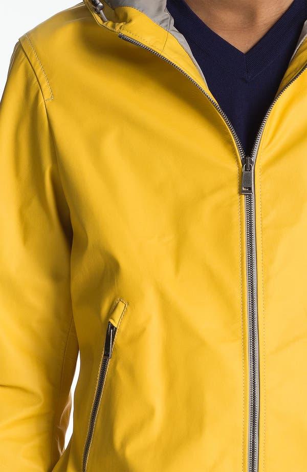 Alternate Image 3  - Jil Sander Lambskin Leather Hooded Jacket