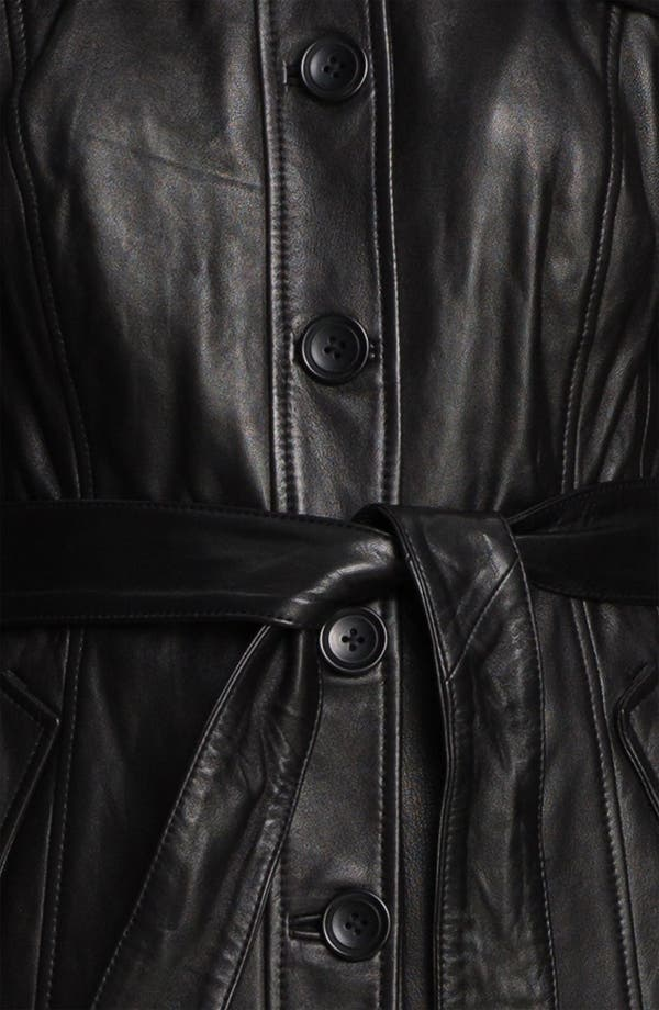 Alternate Image 3  - Classiques Entier® 'Brenna' Leather Trench Jacket
