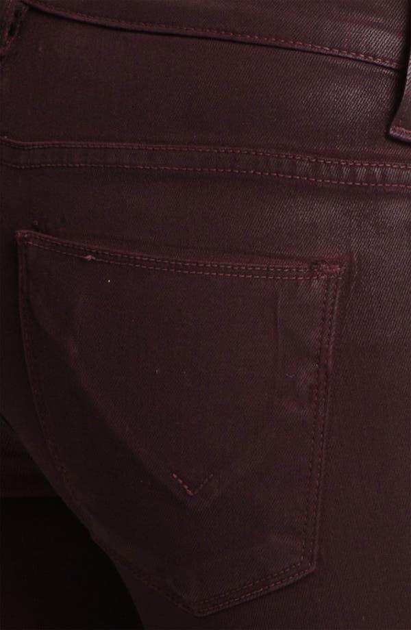 Alternate Image 3  - Hudson Jeans Super Skinny Jeans (Bordeaux Wax)