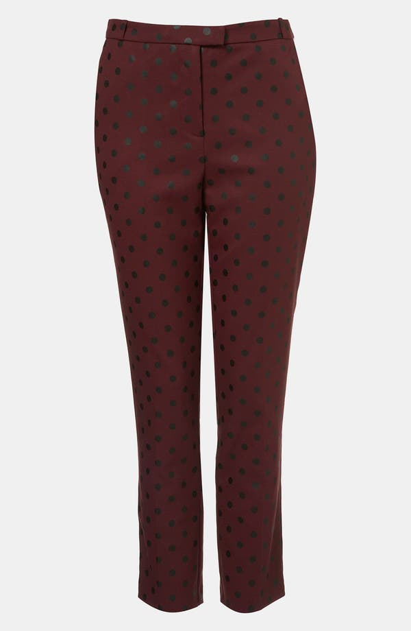 Alternate Image 1 Selected - Topshop Polka Dot Cigarette Leg Pants