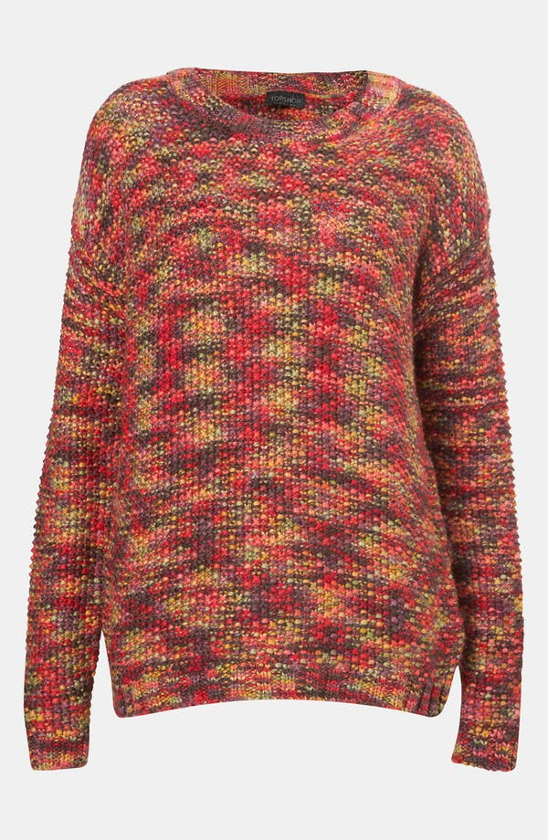 Main Image - Topshop Rainbow Tweed Sweater