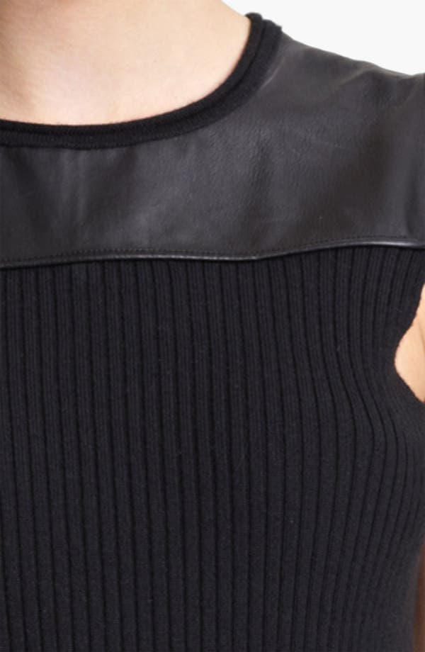 Alternate Image 3  - Reed Krakoff Leather Yoke Knit Top