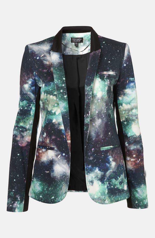 Alternate Image 1 Selected - Topshop 'Galactic' Print Blazer