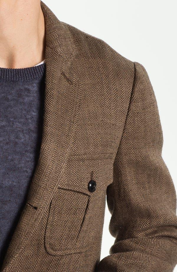 Alternate Image 3  - Todd Snyder Three Button Linen Herringbone Sportcoat