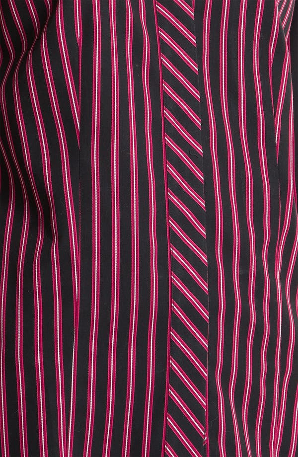 Alternate Image 3  - Foxcroft Satin Stripe Shirt (Petite)