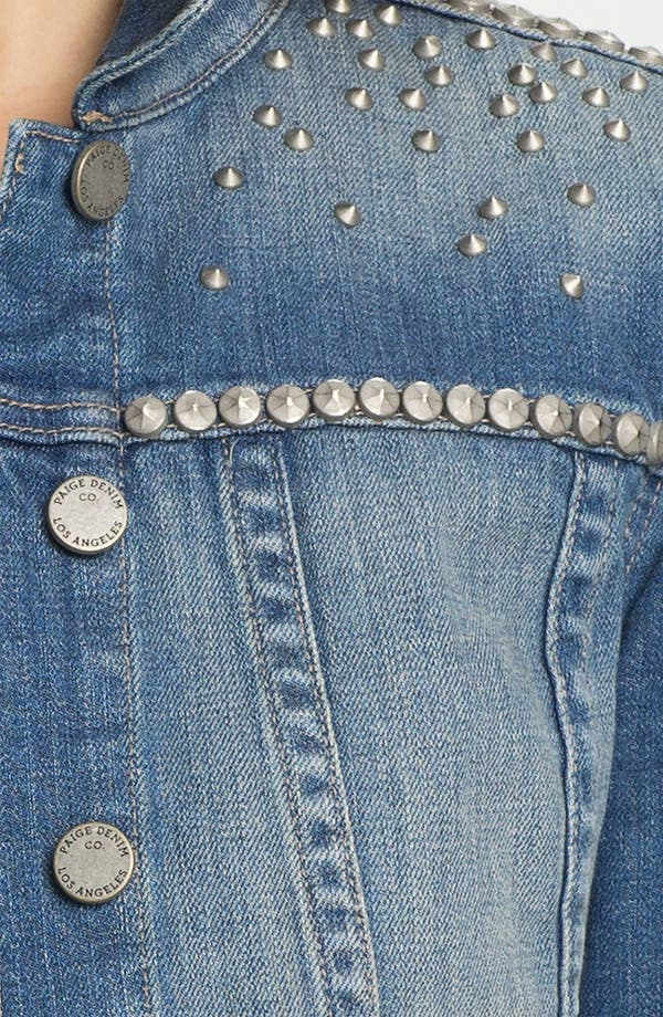 Alternate Image 3  - Paige Denim 'Colbie' Studded Denim Jacket
