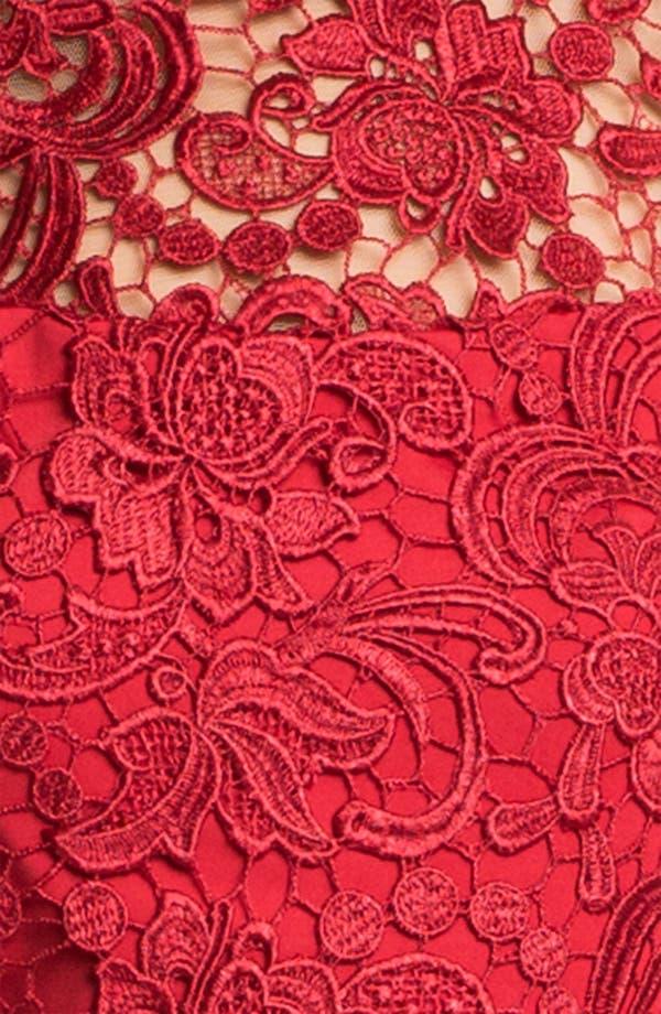 Alternate Image 3  - Jessica McClintock Illusion Yoke Side Slit Jersey Gown