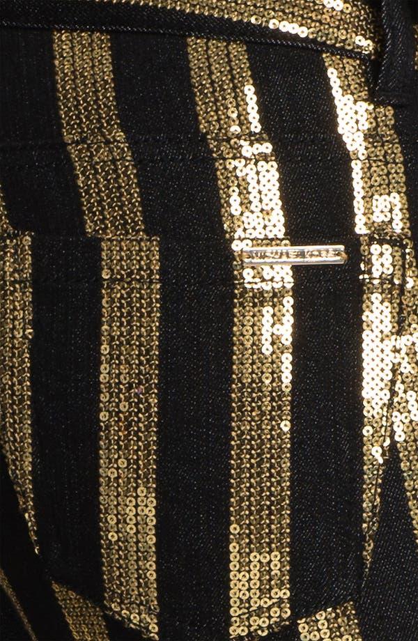 Alternate Image 3  - MICHAEL Michael Kors Sequin Stripe Jeans
