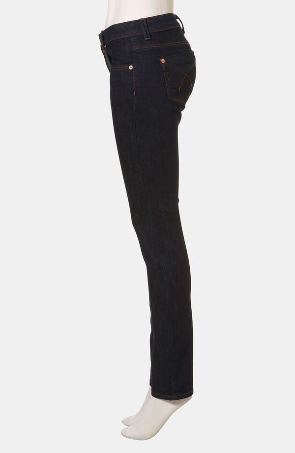 Alternate Image 4  - Topshop Moto 'Baxter' Skinny Jeans (Indigo)